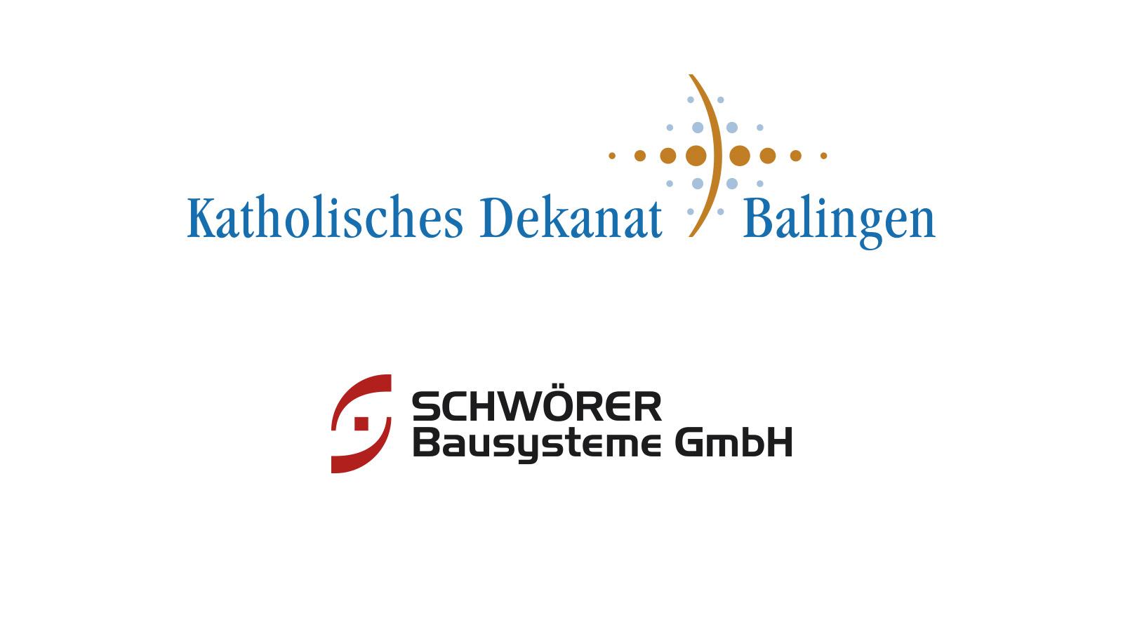 Logo katholisches Dekanat, Balingen und Schwörer Bautechnik