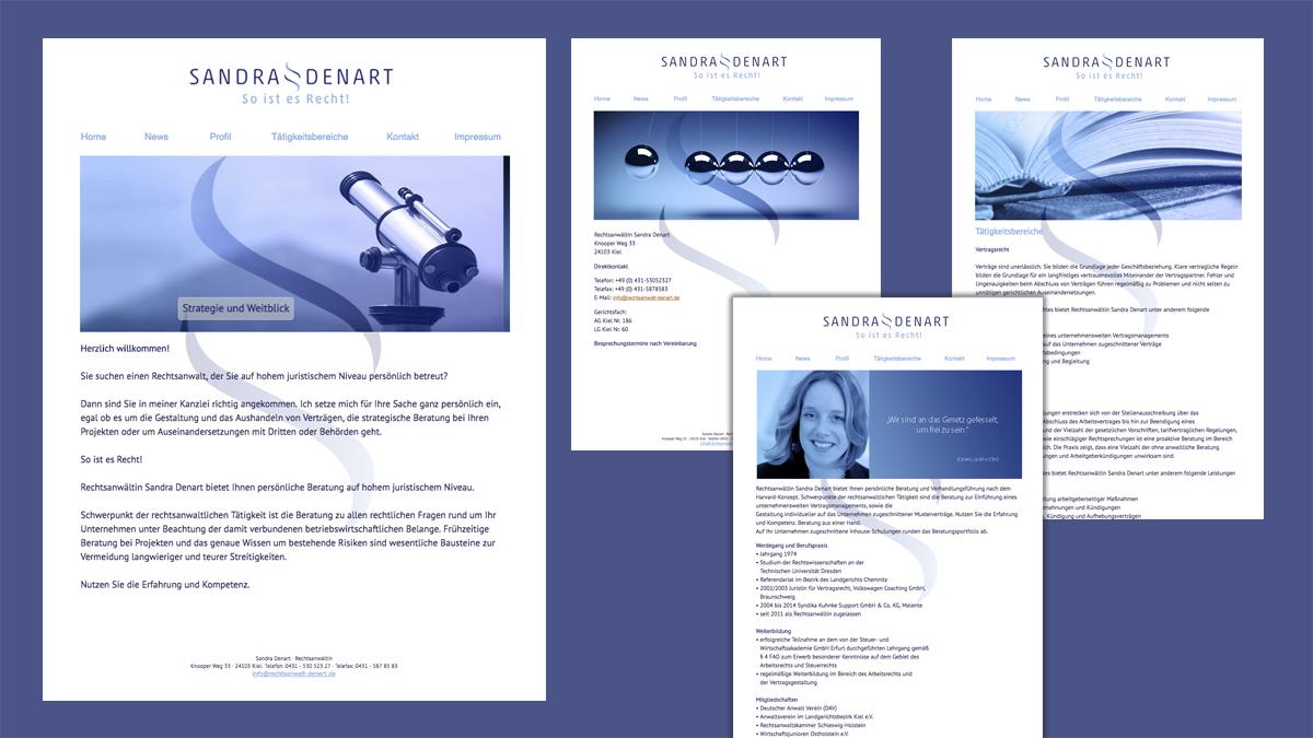Webseitenbeispiel Sandra Denart