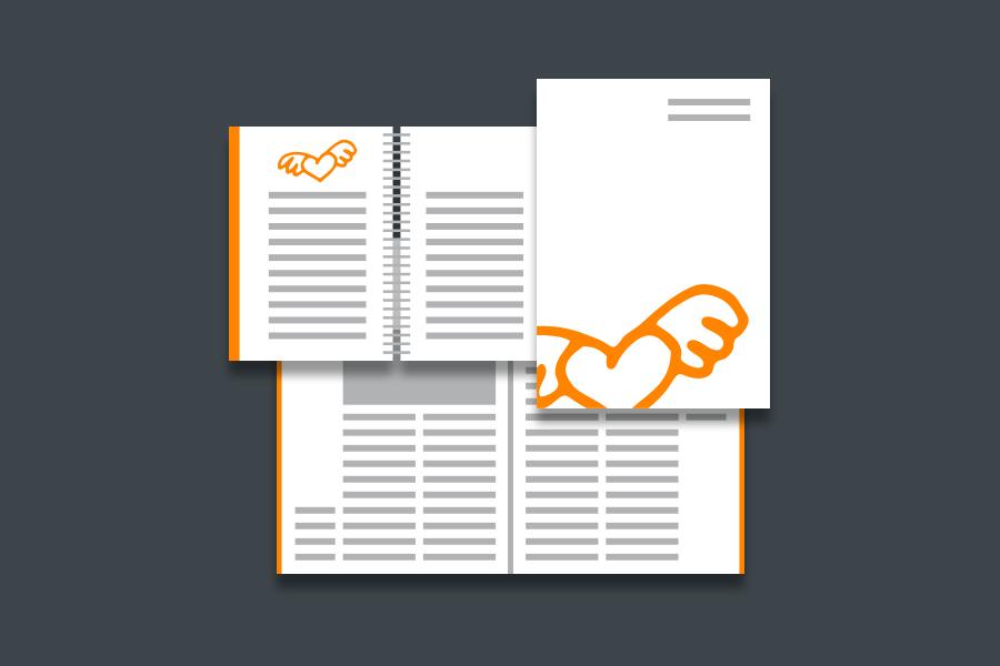 Grafik-Design Flyer Broschüre und Satzspiegel