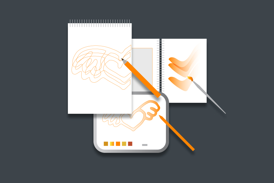 Illustrationen in verschiedenen Techniken, analog und digital